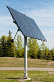 Solar Panels in a Public Park - Alternative Energy — Stock Photo