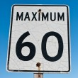 Cracked and Rusted Maximum 60 Sign — Stockfoto