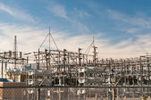 Transformer Station - Electrical Substation — Stock Photo