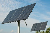 Renewable Energy - Photovoltaic Solar Panel Arrays — Stock Photo