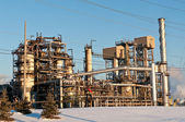 Petrochemical Refinery in the Evening — Stock Photo