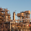 Stock Photo: Petrochemical Refinery in the Evening