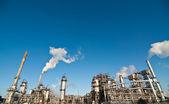 Planta de Refinaria Petroquímica — Fotografia Stock