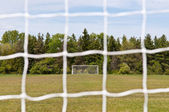Outdoor Soccer Field — Stock Photo