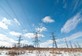 Electrical Transmission Towers (Electricity Pylons) — Stock Photo