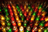 Colorful Votive Candles in a Church — Stock Photo