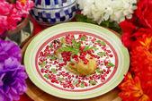 Chile Nogada Mexican Dish Shallow Focus — Stock Photo