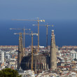 Sagrada Familia Barcelona Distant View - Stock Photo