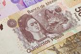 Frida Kahlo Mexican Five Hundred Pesos — Stock Photo
