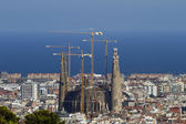 Sagrada Familia Barcelona Distant View — Stock Photo