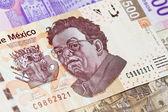 New mexican 500 bill Diego Rivera — Stock Photo