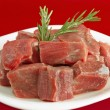 Stew Meat Shank Raw - Stock Photo