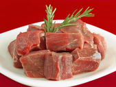 Stew Meat Shank Raw — Stock Photo