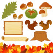 Royalty-Free Stock ベクターイメージ: Autumn icons