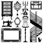 Antika mobilya — Stok Vektör