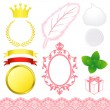 Stock Vector: Beauty advertisement icons