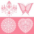 Lace ornaments set — Stock Vector #3975117
