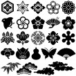 Japanese traditional icons - Stock Vector