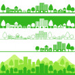 Vector de stock : Eco town