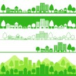 Eco town — Stockvektor #3975903
