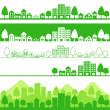 Eco town — Stock Vector