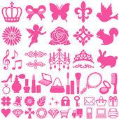 Schoonheid pictogrammen — Stockvector