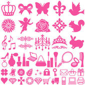Beauty icons — Stock Vector
