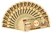 Japanese yen 10000-yen bills — Stockvector