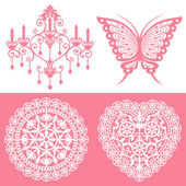 Lace ornaments set — Stock Vector