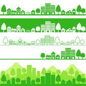 Eco pueblo — Vector de stock