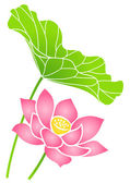 Lotus flower — Stock Vector