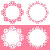 Doily icons — Stock Vector