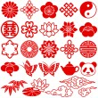 Chinese decorative icons — Stock Photo