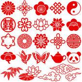Chinese decorative icons — Stock Photo
