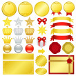 Gold decoration - Stock Photo