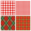 Red plaid — Stock Photo #4325258