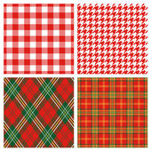 Red plaid — Stock Photo