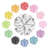 Colorful diamond — Stock Photo