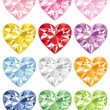 Colorful heart diamond — Stock Photo