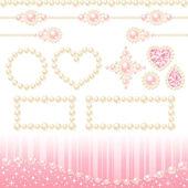 Pearl decoration — Stock Photo
