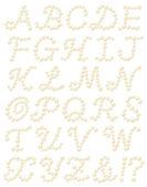 Pearl alphabet — Stock Photo