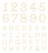 Pearl number alphabet — Stock Photo