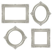 Silver frame. — Stock Photo