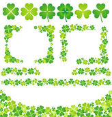 Clover decoration — Stock Photo