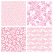 Stock Photo: Cherry blossom pattern