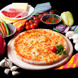 Pizza Marguerita — Stock Photo