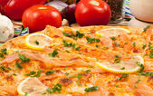 Pizza Salmone — Stock Photo