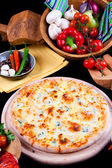 Pizza Quattro Formagi — Stock Photo