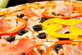Tasty pizza, close-up — Stock Photo