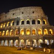 The Colosseum at night - Foto Stock